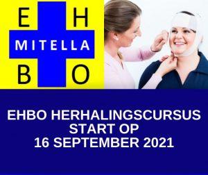 EHBO herhalingscursus startdatum 16 september 2021